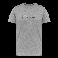 T-Shirts ~ Men's Premium T-Shirt ~ Illuminati Trademark T Shirt - Black Print