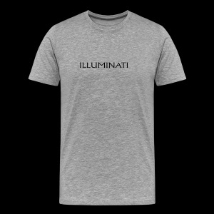 Illuminati Trademark T Shirt - Black Print - Men's Premium T-Shirt