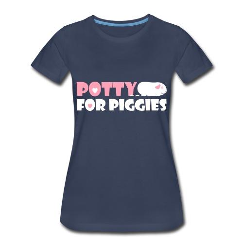 'Potty for Piggies' Plus-Size Ladies T-Shirt  - Women's Premium T-Shirt