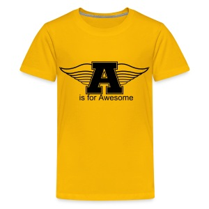 Flying A is for Awesome Kids T-Shirt - Kids' Premium T-Shirt