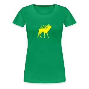 animal t-shirt stag antler cervine deer buck night hunter bachelor - Women's Premium T-Shirt