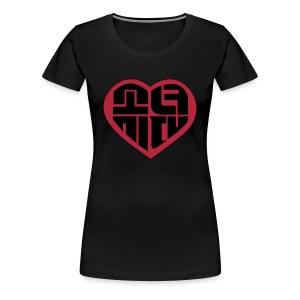 SNSD - IGAB Logo (Black-Red) - Women's Premium T-Shirt