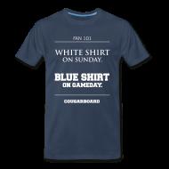 T-Shirts ~ Men's Premium T-Shirt ~ Blue Shirt on Gameday T-shirt (3X/4X)