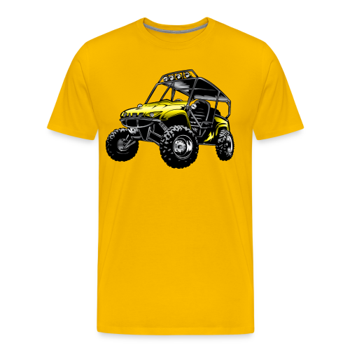 UTV side-x-side yamaha, yellow - Men's Premium T-Shirt