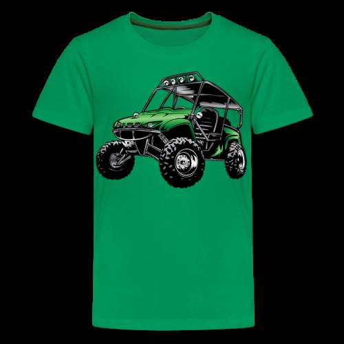 UTV side-x-side, green - Kids' Premium T-Shirt
