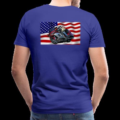 Men's Premium T Back FlagWing Lean - Men's Premium T-Shirt