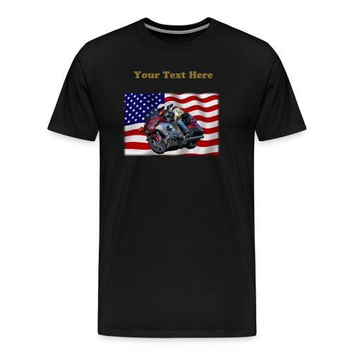 Men's Premium T Front FlagWing Lean Custom - Men's Premium T-Shirt