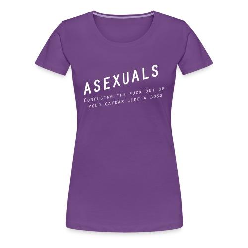 Asexuals - Gaydar - Women's Premium T-Shirt
