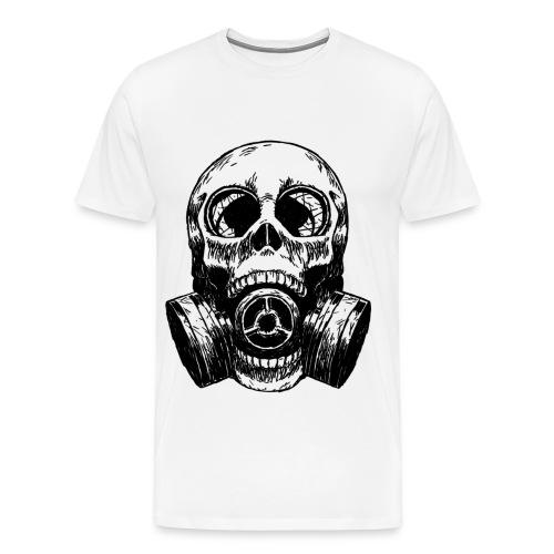 Men's Premium T-Shirt - white,gasmask