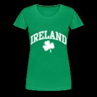 T-Shirts ~ Women's Premium T-Shirt ~ Ireland Shamrock Women's Plus-Size T-Shirt