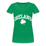 T-Shirts ~ Women's Premium T-Shirt ~ Ireland Shamrock Women's Plus-Size T-Shirt