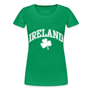 Ireland Shamrock Women's Plus-Size T-Shirt - Women's Premium T-Shirt