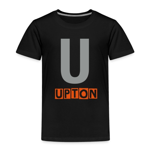 Toddler U name shirt in grey and orange - Toddler Premium T-Shirt