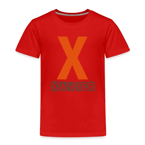 Toddler X name shirt in orange and chocolate - Toddler Premium T-Shirt