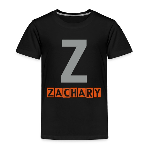 Toddler Z name shirt in grey and orange - Toddler Premium T-Shirt