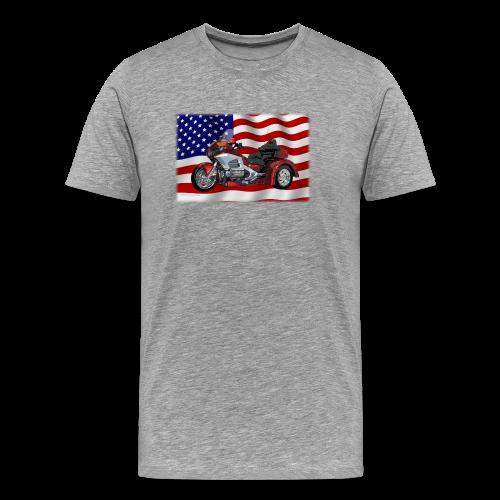 Men's Premium T Front FlagWTrike - Men's Premium T-Shirt