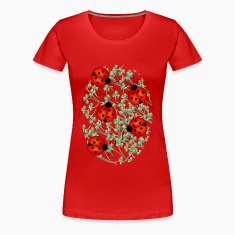 ladybugs woman's tshirt