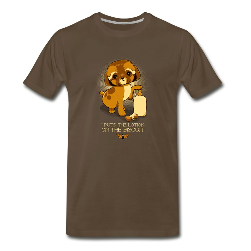 I Puts the Lotion on the Biscuit - Men's Premium T-Shirt