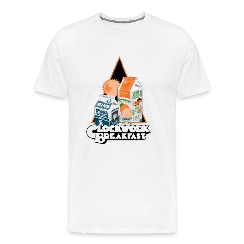 A Clockwork Breakfast - Men's Premium T-Shirt