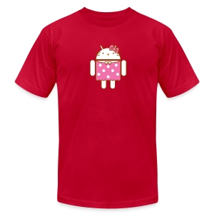 Hello Droid - Men's T-Shirt by American Apparel
