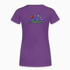 Pretty Flower Vine and Dragonfly Women's T-Shirts