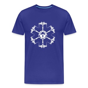 X-Wing Fighter Snowflake (White) Men's Standard Weight T-Shirt - Men's Premium T-Shirt