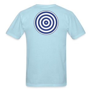 TRON classic (2 color disc, blue/white) - Men's T-Shirt