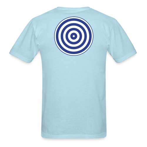 TRON classic (2 color disc, blue/white) - Men's T-Shirt