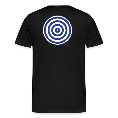 TRON classic disc-only (2 color disc, blue/white) - Men's Premium T-Shirt