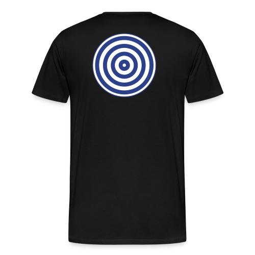 TRON classic disc-only (2 color disc, blue/white) - Men's Premium T-Shirt
