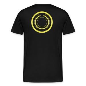 TRON legacy disc-only (yellow) - Men's Premium T-Shirt