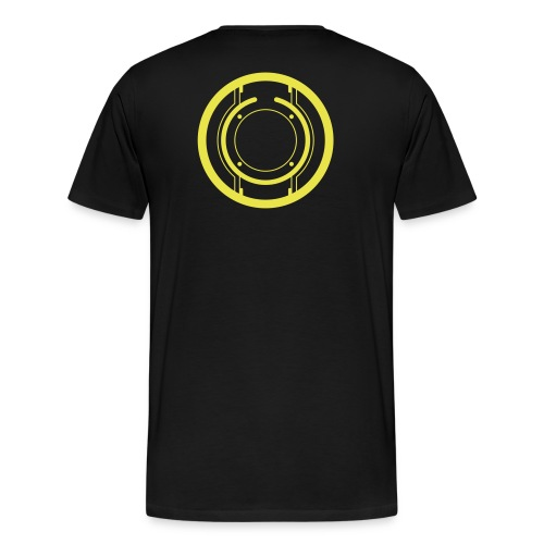 TRON legacy disc-only (yellow) - Men's Premium T-Shirt