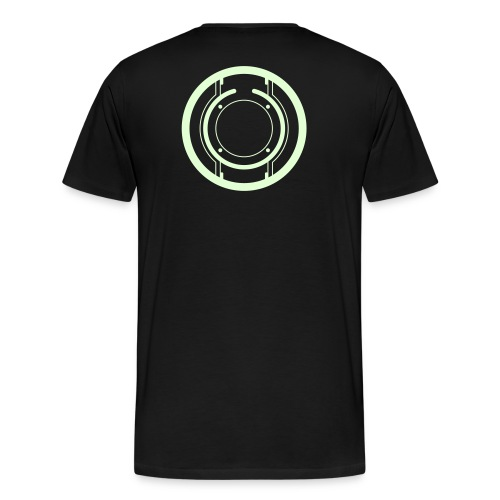 TRON legacy disc-only (glow) - Men's Premium T-Shirt
