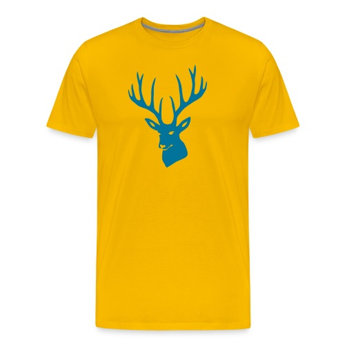 animal t-shirt stag antler cervine deer buck night hunter bachelor - Men's Premium T-Shirt