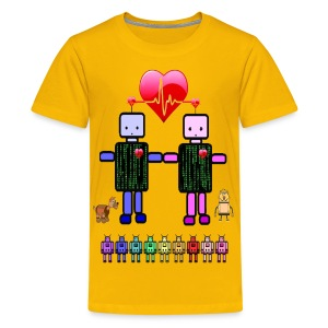 robot love kids tshirt - Kids' Premium T-Shirt
