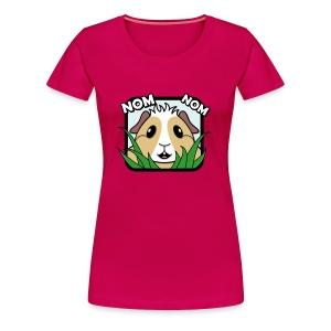 'Nom Nom' Guinea Pig Women's Plus-Size T-Shirt - Women's Premium T-Shirt