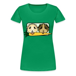 'Pair of Pigs' Guinea Pig Women's Plus-Size T-Shirt - Women's Premium T-Shirt