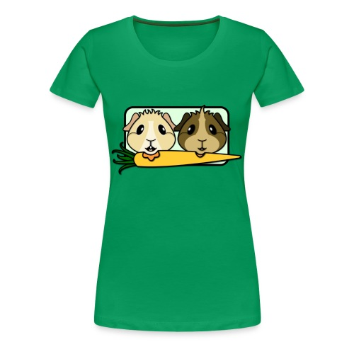 'Pair of Pigs' Guinea Pig Women's Plus-Size T-Shirt - Women's Premium T-Shirt