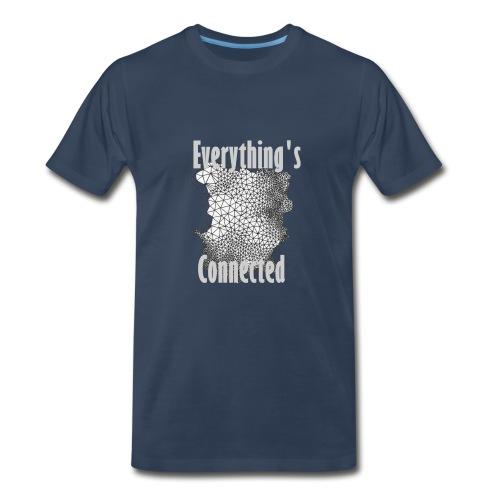 2 Words- Connected - Men's Premium T-Shirt