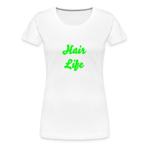 Hair Life-Neon Green - Women's Premium T-Shirt