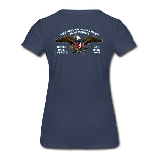 2nd Amendment Permit w/White lettering  - Women's Premium T-Shirt