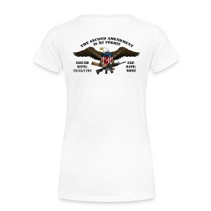 2nd Amendment Permit w/Black lettering  - Women's Premium T-Shirt