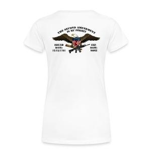 2nd Amendment Permit w/Black lettering  - Women's Premium T-Shirt