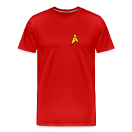 T-Shirts ~ Men's Premium T-Shirt ~ Mission Log Red Shirt
