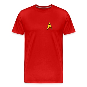 Mission Log Red Shirt - Men's Premium T-Shirt