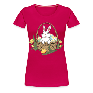 Women's Easter T-shirts Plus Size Easter Shirt Cute Basket Shirts - Women's Premium T-Shirt