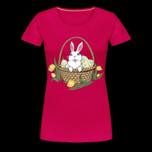 Women's Easter T-shirts Plus Size Easter Shirt Cute Basket Shirts - Women's Premium T-Shirt