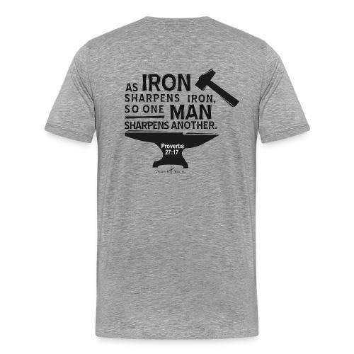 Sportsman Event, Prov.27:17  - Men's Premium T-Shirt