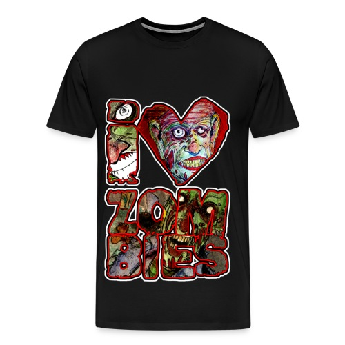 mens - love zombies square - Men's Premium T-Shirt