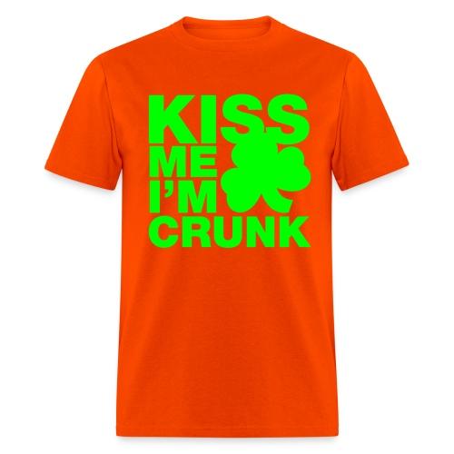 Kiss Me I'm Crunk on Orange (Gildan Heavyweight 100% Cotton) - Men's T-Shirt